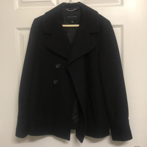 Banana Republic Jackets & Blazers - Banana Republic double breasted black pea coat
